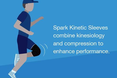 Spark Kinetic Sleeves combine kinesiology and compression to enhance performance.